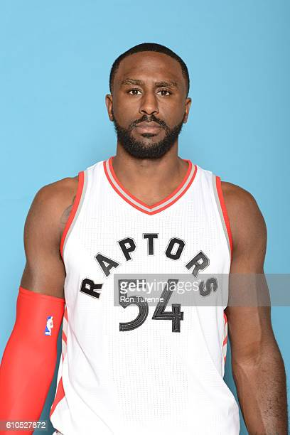 Patrick Patterson of the Toronto Raptors poses for a head shot during the 20162017 Media Day on September 26 2016 at the BioSteel Centre in Toronto...