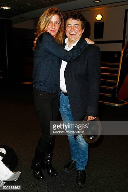 Patrick Pelloux and guest attend the Laurent Gerra One Man Show at L'Olympia on December 19 2015 in Paris France