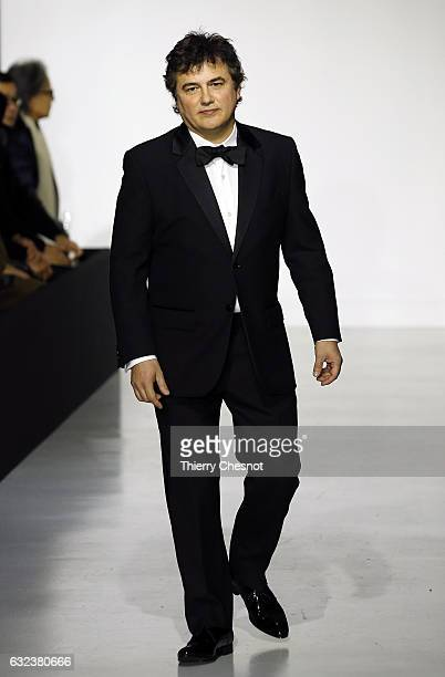 Patrick Pelloux walks the runway during the Agnes B Menswear Fall/Winter 20172018 show as part of Paris Fashion Week on January 22 2017 in Paris...