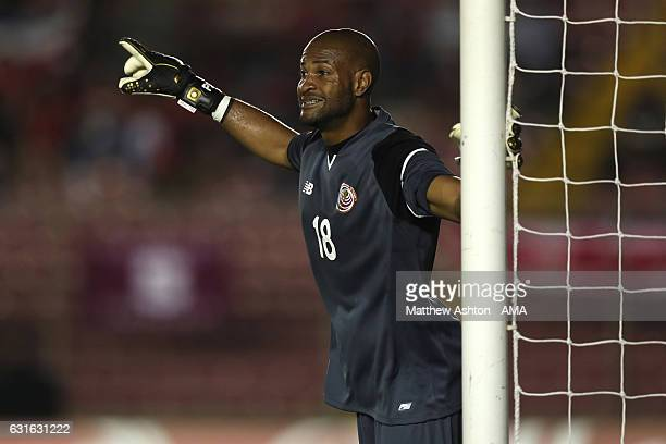 Patrick Pemberton of Costa Rica looks on during the Copa Centroamericana match between Costa Rica and El Salvador at Estadio Rommel Fernandez on...
