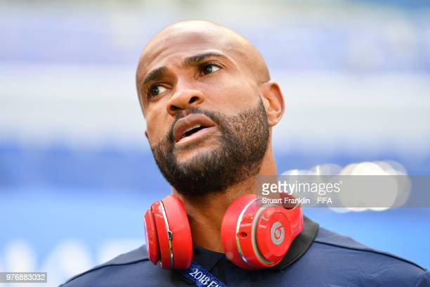 Patrick Pemberton of Costa Rica looks on during the pitch inspection prior to the 2018 FIFA World Cup Russia group E match between Costa Rica and...