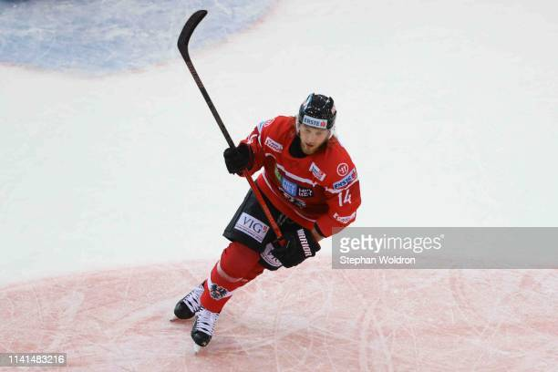 Patrick Peter of Austria during the Austria v Denmark - Ice Hockey International Friendly at Erste Bank Arena on May 5, 2019 in Vienna, Austria.