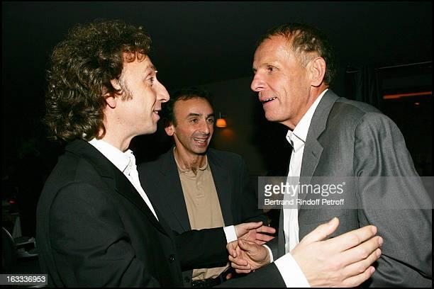 Patrick Poivre D' Arvor and Eric Zemmour at Stephane Bern's 42nd Birthday Celebration At Sens In Paris