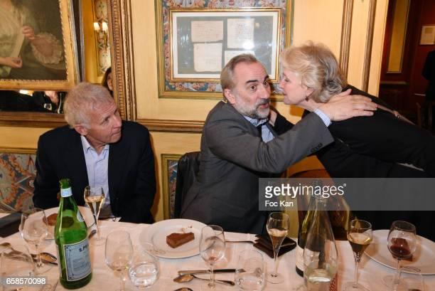 Patrick Poivre d'Arvor actors Antoine Dulery and Marie Christine Barrault attend 'Journees du Livre et du Vin 2017' Jury Deliberation Lunch at Le...