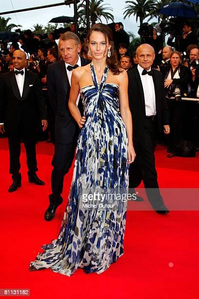 Patrick Poivre D'Arvor and Agathe Borne arrive at the premiere for the film 'Vicky Cristina Barcelona' at the Palais des Festivals during the 61st...