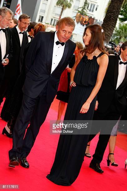Patrick Poivre D'Arvor and Agathe Borne arrive at the Un Conte De Noel Premiere at the Palais des Festivals during the 61st International Cannes Film...