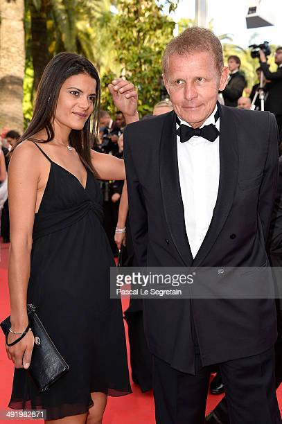 Patrick Poivre d'Arvor and Agathe Borne attend 'The Homesman' premiere during the 67th Annual Cannes Film Festival on May 18 2014 in Cannes France