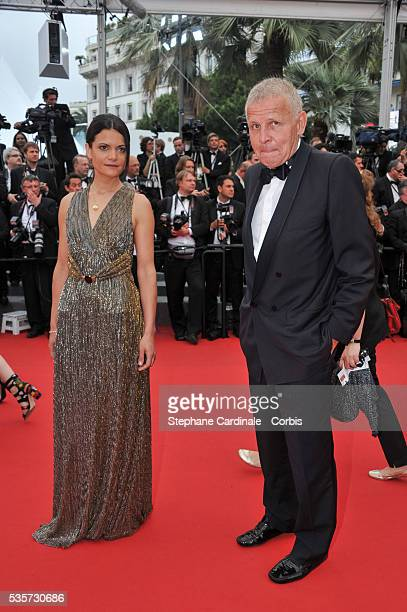 Patrick Poivre d'Arvor and Agathe Borne attend the 'Mad Max Fury Road' Premiere during the 68th Cannes Film Festival