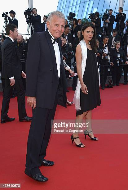 Patrick Poivre d'Arvor and Agathe Borne attend the 'Mia Madre' Premiere during the 68th annual Cannes Film Festival on May 16 2015 in Cannes France