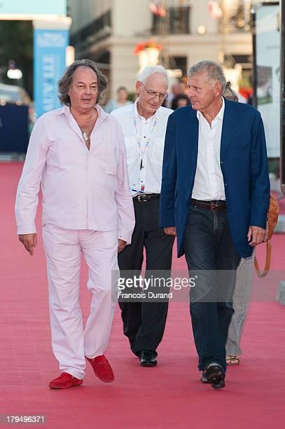 Patrick Poivre d'Arvor and Gonzague Saint Bris arrive at the premiere of the film 'Parkland' during the 39th Deauville American Film Festival on...