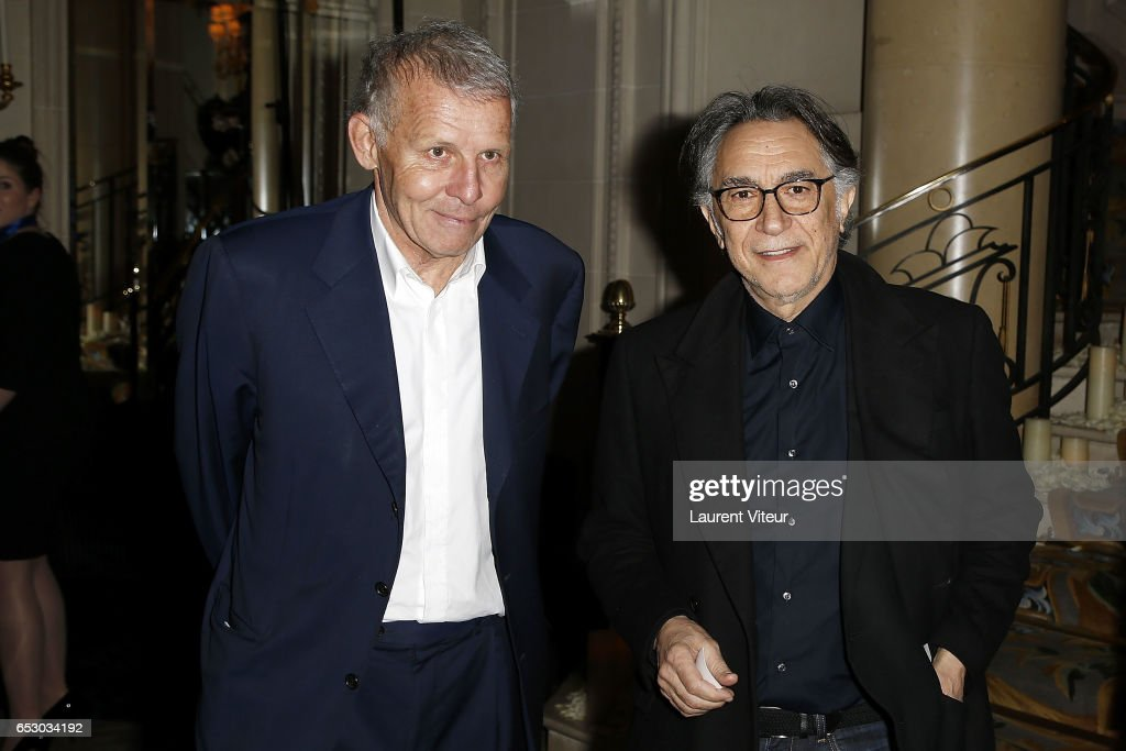 Patrick Poivre D'Arvor and Richard Berry attend 'La Recherche en Physiologie' Charity Gala at Four Seasons Hotel George V on March 13, 2017 in Paris, France.