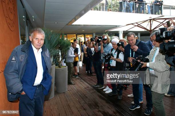 Patrick Poivre d'Arvor attends the 2018 French Open Day Ten at Roland Garros on June 5 2018 in Paris France