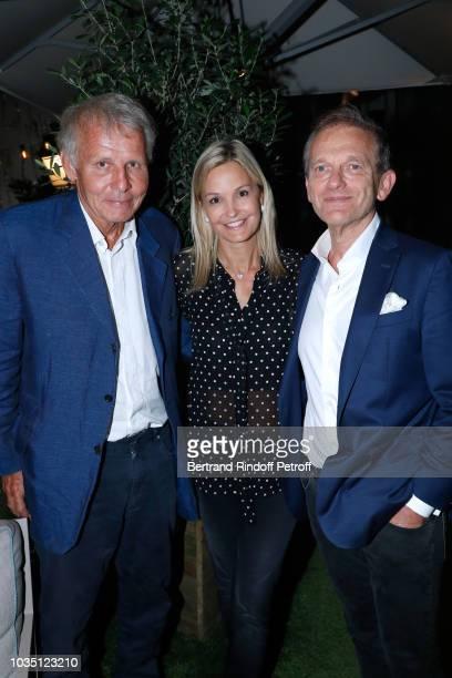 Patrick Poivre d'Arvor Doctor Frederic Saldmann and his wife Marie Saldmann attend the Cocktail at Hotel Barriere Le Fouquet's after 'Les...
