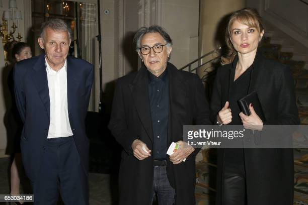 Patrick Poivre D'Arvor Richard Berry and Pascale Louange attend La Recherche en Physiologie Charity Gala at Four Seasons Hotel George V on March 13...