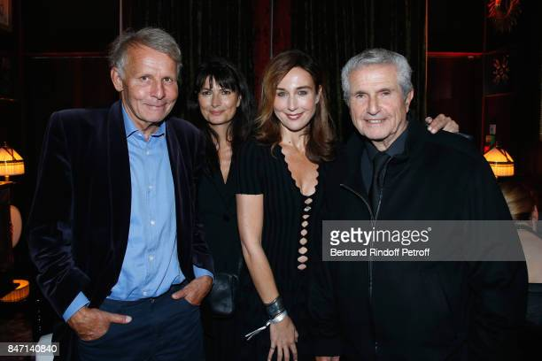 Patrick Poivre d'Arvor Valerie Perrin Elsa Zylberstein and Claude Lelouch attend the Reopening of the Hotel Barriere Le Fouquet's Paris decorated by...