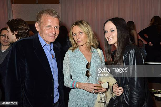 Patrick Poivre dÔArvor Valerie Steffen and her niece attend the Moma Group President Benjamin Patou receives his friend Claude Lelouch during the...