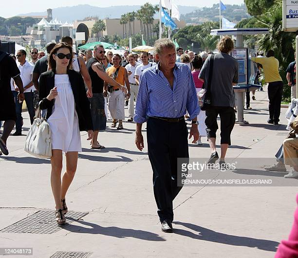 Patrick Poivre d'Arvor with friend Agathe Borne at the 60th Cannes International Film Festival France On May 15 2007
