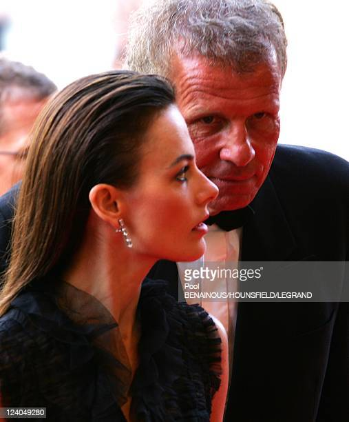 Patrick Poivre d'Arvor with friend Agathe Borne at the 60th Cannes International Festival in Cannes France on May 19 2007