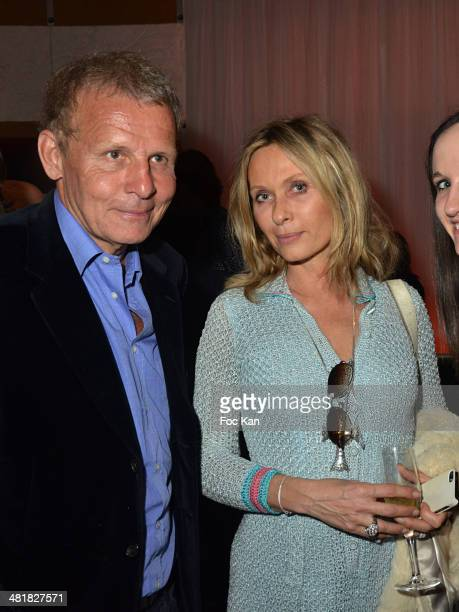 Patrick Poivre dÔArvorÊand Valerie Steffen attend the Moma Group President Benjamin Patou receives his friend Claude Lelouch during the 'Salaud on...