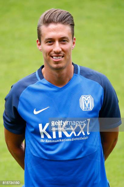 Patrick Posipal of SV Meppen poses during the official team presentation of SV Meppen at Haensch Arena on July 8 2017 in Meppen Germany