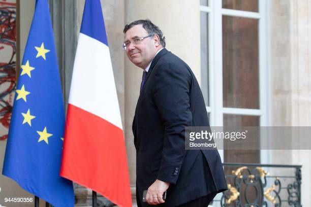 Patrick Pouyanne chief executive officer of Total SA arrives at the Elysee Palace ahead of a dinner with Mohammed bin Salman Saudi Arabia's crown...