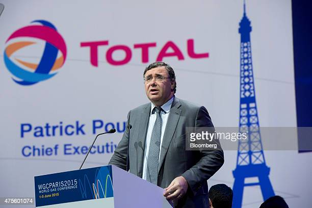 Patrick Pouyanne chief executive officer of Total SA speaks during the opening ceremony of the World Gas Conference in Paris France on Tuesday June 2...