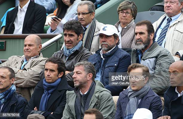 Patrick Proisy brothers Joel Cantona JeanMarie Cantona and Eric Cantona attend day 13 of the 2016 French Open held at RolandGarros stadium on June 3...