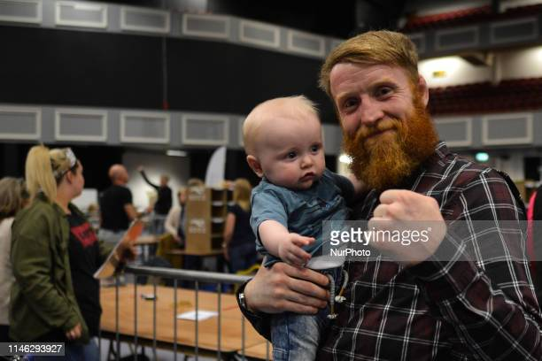 Patrick quotPaddyquot Holohan a retired Irish mixed martial artist and a Sinn Féin local election candidate for Tallaght South holds his son Seamus...