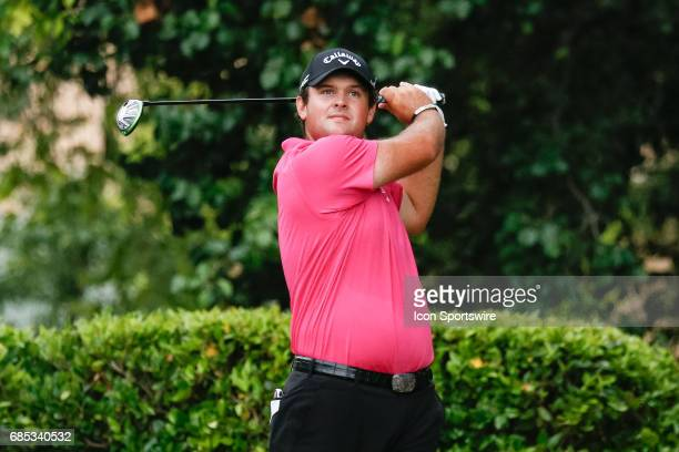 Patrick Reed hits his tee shot on during the second round of the ATT Byron Nelson on May 19 2017 at the TPC Four Seasons Resort in Irving TX