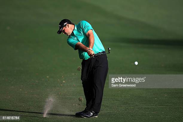 Patrick Reed hits off the tenth fairway during the first round of the Valspar Championship at Innisbrook Resort Copperhead Course on March 10 2016 in...
