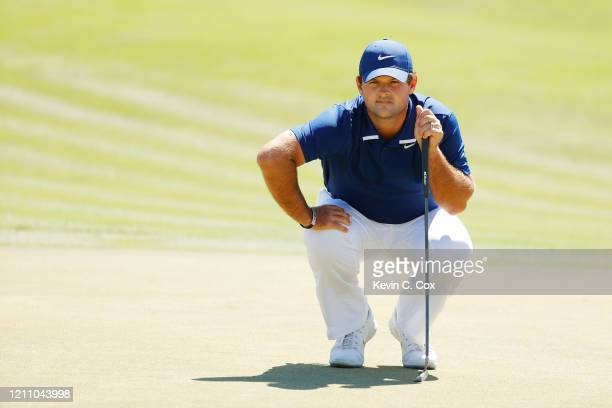Patrick Reed of the United States lines up a putt on the second hole during the third round of the Arnold Palmer Invitational Presented by MasterCard...