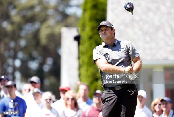 Patrick Reed of the United States on the 6th tee box during the third round of the Travelers Championship on June 24 at TPC River Highlands in...