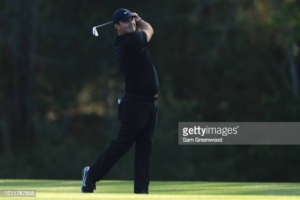 Patrick Reed of the United States plays a shot during a practice round prior to The PLAYERS Championship on The Stadium Course at TPC Sawgrass on...