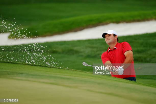 Patrick Reed of the United States plays a shot from a bunker on the 12th hole during the second round of the Arnold Palmer Invitational Presented by...