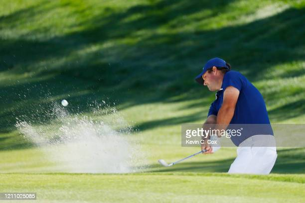 Patrick Reed of the United States plays a shot from a bunker on the seventh hole during the third round of the Arnold Palmer Invitational Presented...