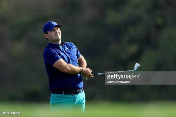 Patrick Reed of the United States plays a shot on the 14th hole during the first round of The PLAYERS Championship on The Stadium Course at TPC...