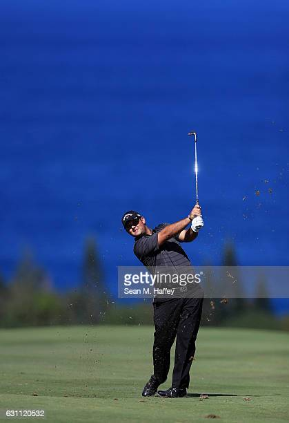 Patrick Reed of the United States plays a shot on the fourth hole during the second round of the SBS Tournament of Champions at the Plantation Course...