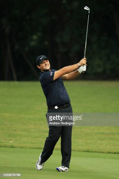 Patrick Reed of the United States plays his second shot on the 15th hole during the second round of the WGC - HSBC Champions at Sheshan International...