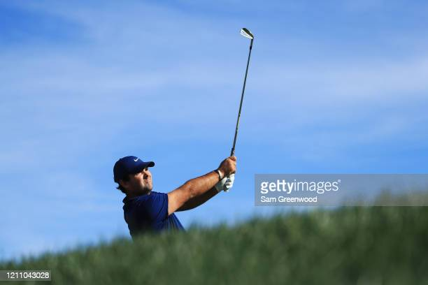 Patrick Reed of the United States plays his shot from the 14th tee during the third round of the Arnold Palmer Invitational Presented by MasterCard...