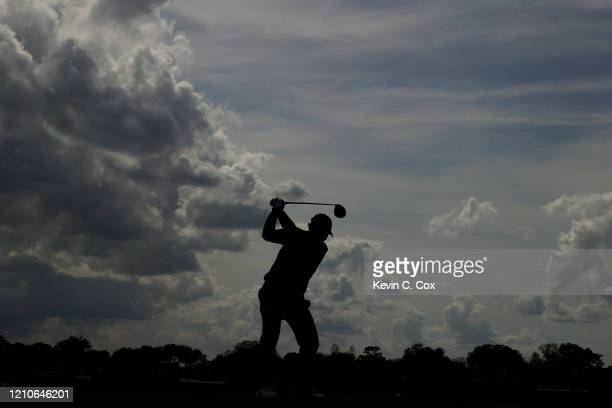 Patrick Reed of the United States plays his shot from the sixth tee during the first round of the Arnold Palmer Invitational Presented by MasterCard...