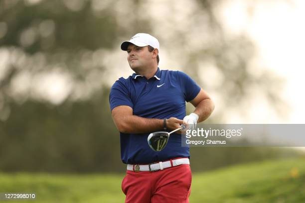 Patrick Reed of the United States plays his shot from the sixth tee during the first round of the 120th U.S. Open Championship on September 17, 2020...