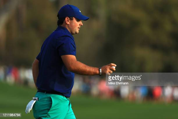Patrick Reed of the United States reacts on the 11th green during the first round of The PLAYERS Championship on The Stadium Course at TPC Sawgrass...
