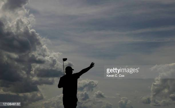Patrick Reed of the United States reacts to his shot from the sixth tee during the first round of the Arnold Palmer Invitational Presented by...
