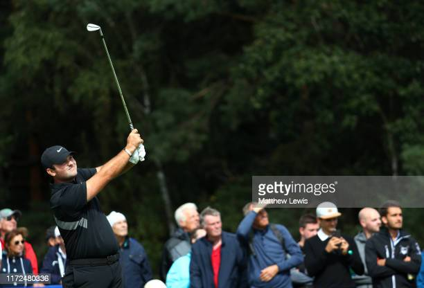 Patrick Reed of The United States tees off on the second during Day one of the Porsche European Open at Green Eagle Golf Courses Porsche Nord Course...