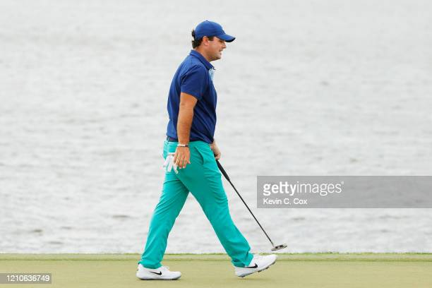 Patrick Reed of the United States walks on the third green during the first round of the Arnold Palmer Invitational Presented by MasterCard at the...