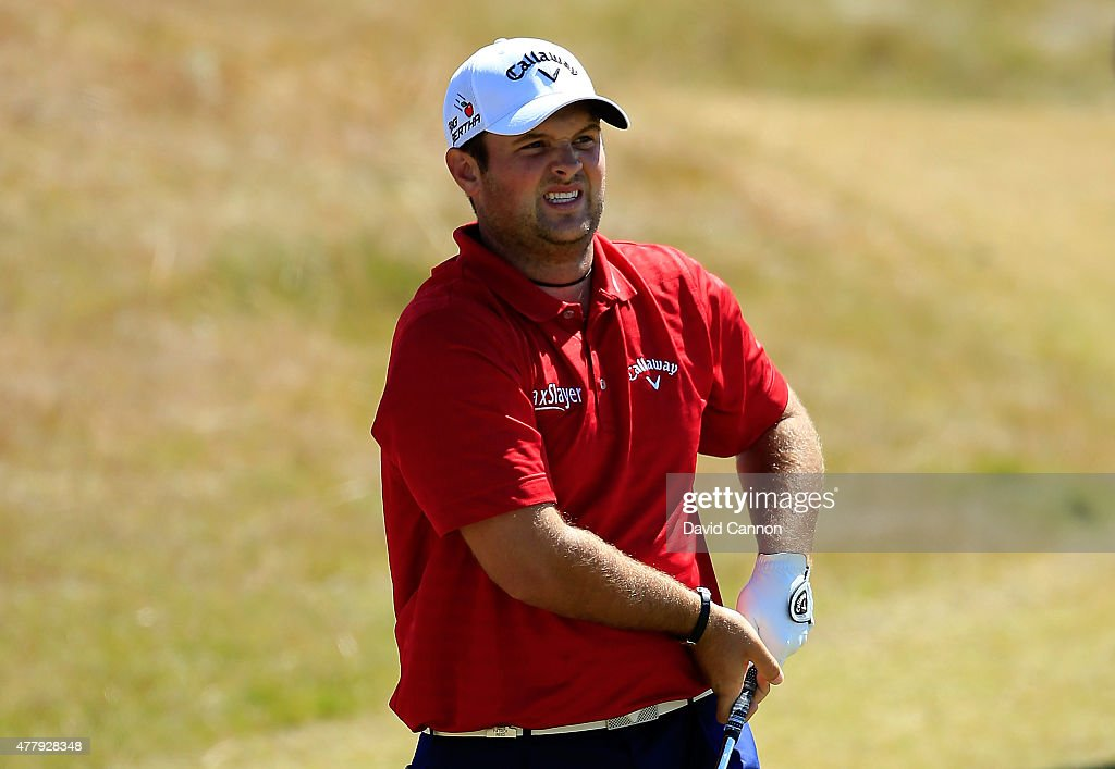 Patrick Reed of the United States watches his tee shot on the third hole during the third round of the 115th U.S. Open Championship at Chambers Bay on June 20, 2015 in University Place, Washington.