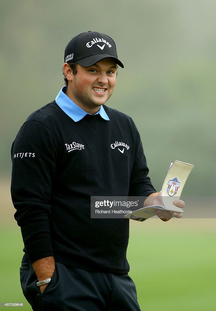 Patrick Reed of the USA in action during the pro-am for the Volvo World Matchplay at The London Club on October 14, 2014 in Ash, England.