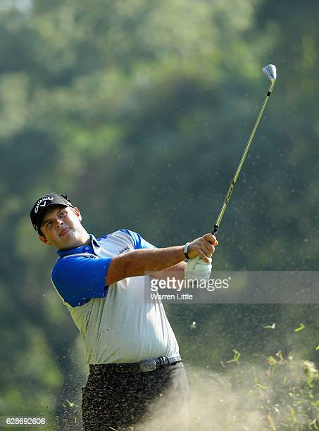 Patrick Reed of the USA plays his second shot ont he 11th hole during the second round of the USB Hong Kong Open at The Hong Kong Golf Club on...