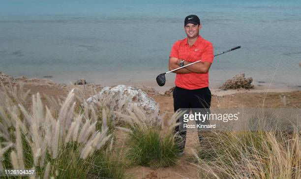 Patrick Reed of the USA poses for a portrait during the pro-am event prior to the Saudi International at the Royal Greens Golf & Country Club on...