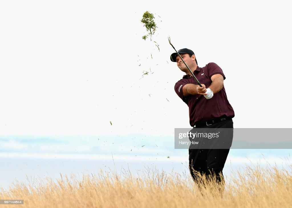 Patrick Reed of USA plays out of the rough on hole fifteen during day one of the Aberdeen Standard Investments Scottish Open at Gullane Golf Course on July 12, 2018 in Gullane, Scotland.